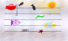 Reinforce the distinction between line notes and space notes while providing room for creativity and self-expression. On the staff, ask students to draw different things certain notes.