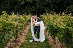 Australian Vineyard Wedding Photos V Neck Wedding Dress, Dream Wedding Dresses, Wedding Day Timeline, Wedding Photos, Creative Wedding Ideas, Pink And White Flowers, Pink Bouquet, Sunshine Coast, Vineyard Wedding