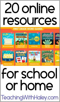 The best online resources for learning at home by Haley O'Connor. In this post, I go into detail about different online resources your family can use today to help with remote learning. Learn more about storybooks from Vooks, great online cooking classes for kids by Highlights 4 Kids, grade-based learning games for word study (phonics) math, holidays, and more from ABC Ya. There are some great free online resources for virtual learning at home for kindergarten, first grade, and up! Learn more.