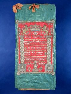 Torah Mantle, made in Wenkheim, Germany, 1785-1786
