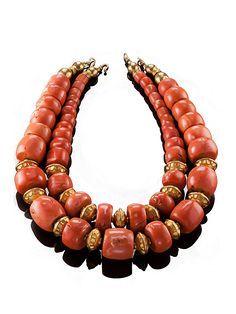 Yemeni coral Coral Jewelry, Statement Jewelry, Jewelry Art, Antique Jewelry, Beaded Jewelry, Fine Jewelry, Women Jewelry, Handmade Jewelry, Necklace Box