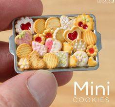 Plateau biscuit minature fimo / pastel sec / fimo liquide / farine / vaisselle miniature