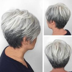 Gray Stacked Pixie Bob | For more style inspiration visit 40plusstyle.com
