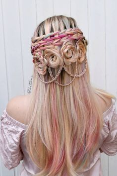 Scissor waterfall braids via igterttiina wig unicorn synthetic lace front wig longhairstyles make a cascade waterfall braid Prom Hairstyles, My Hairstyle, Box Braids Hairstyles, Trending Hairstyles, School Hairstyles, Wedding Hairstyle, Long Thin Hair, Long Curly, Face Shape Hairstyles
