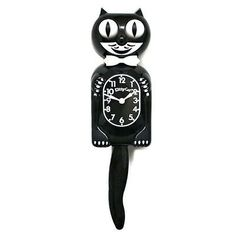 KITTY KAT KLOCK - BLACK KIT CAT CLOCK - MADE IN THE USA - FREE SAME DAY SHIPPING