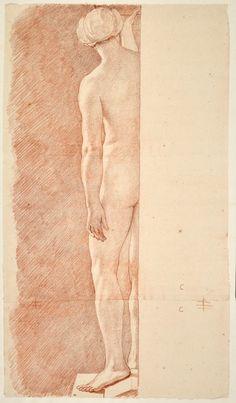 Edme Bouchardon, Femme nue de dos, bras gauche le long du corps.© RMN-Grand Palais (musée du Louvre) / Michel Urtado
