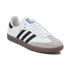 Womens adidas Samba OG Athletic Shoe - White Black Gum - 436676 Adidas Og 277e08392