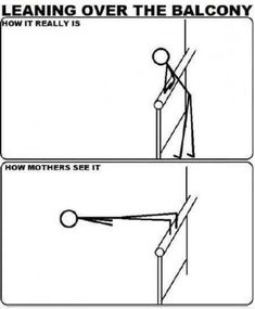 Leaning Over The Balcony #humor