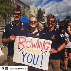 #Repost @queensrowing  Queens rowing wants you! Come find us at the sidewalk sale and find out if you have what it takes! #chagheill #queensrowing