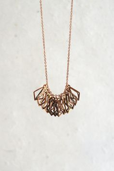 Cage Fringe Necklace