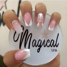 Pink Acrylic Nails, Elegant Nails, Trendy Nails, Manicure And Pedicure, Nail Art Designs, Hair Beauty, Nail Polish, Arusha, Makeup