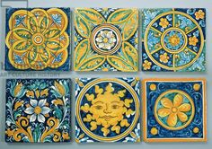 Ceramic tiles in the typical Caltagirone style (ceramic)