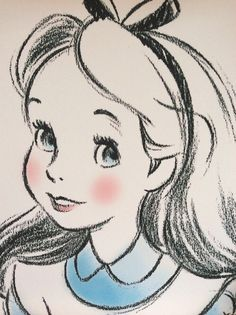 Drawing disney alice in wonderland awesome ideas Disney Kunst, Arte Disney, Disney Art, Disney Character Sketches, Disney Sketches, Disney Characters, Drawing Disney, Easy Disney Drawings, Disney Tattoos
