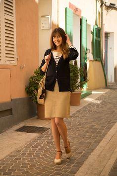 Jupe MARCEL #terreetmer #été #cassis Bleu Marine, Marcel, Style, Fashion, Skirt, Swag, Moda, Fashion Styles, Fashion Illustrations