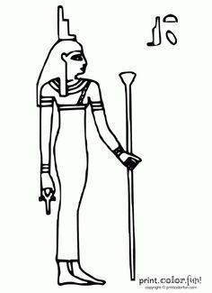 egypt stencils | Egyptian god: Anubis | Print. Color. Fun! Free ...