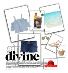 """Walk on the Beach"" by stylookfashion on Polyvore featuring moda, Steve J & Yoni P, Ray-Ban y Valentino"