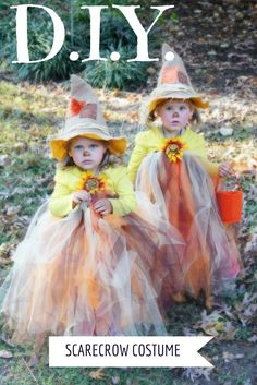 DIY scarecrow costume with tutu