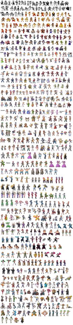 All Pokemon Trainer Sprites by ~KyogreMaster on deviantART Pokemon is amazing at pixel art!