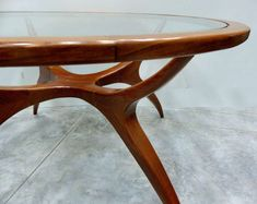 Sculptural Wood Table by Giuseppe Scapinelli, Brazil, 1960s 6