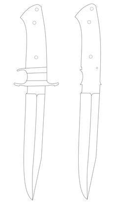 Vetorizando um modelo - Favor Damascus Sword, Damascus Steel, Types Of Knives, Knives And Swords, Knife Grinding Jig, Knife Template, Knife Patterns, Knife Art, Handmade Knives