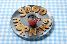 Good Morning Letters Made Out Of Toasted Bread On Plate Stock . Gd Morning, Happy Morning, Good Morning Greetings, Good Morning Wishes, Good Morning Quotes, Happy Sunday, Good Morning Letter, Good Morning Coffee, Good Morning Good Night