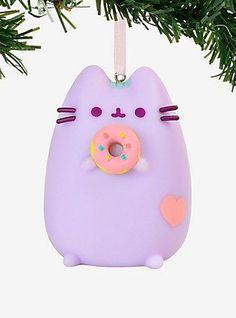 Pusheen Pastel Purple Donut Ornament,