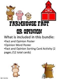 Fact and opinion are often a difficult concept for students.  This free activity will help students to recognize the difference between facts and o...