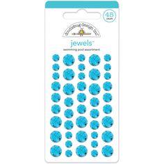 Doodlebug Adhesive Jewels 6mm, 8mm & 10mm 45/PkgSwimming