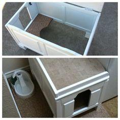 Diy enclosed cat box
