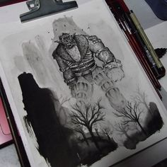 Shadow of the colossus - Barba (FanArt) by FredGuerazzi