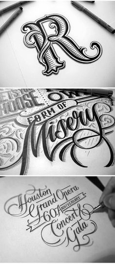 Mateusz Witczak is a self-taught lettering artist and graphic designer currently living in Warsaw, Poland. More lettering inspiration Visit his website Types Of Lettering, Lettering Styles, Brush Lettering, Lettering Design, Lettering Tutorial, Hand Lettering Alphabet, Typography Letters, Typography Logo, Logos