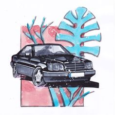 Mercedes Benz 300CE (W124) | I love dirty! #mercedes #mercedesbenz  #w124 #300ce #mercedesbenzmuseum #cardrawing #sketch #art #watercolor #cool #drawtodrive #drawwithlove #germancar #artwork #carartspot #artist #painting #paint #car #handmade #fineart #automotiveart #carart #carsketch #carpainting #carlove #roadlove