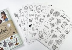 Lijstje lievelings - stickers!   Bulletjournal.nl Third Party, Stickers, Washi Tape, Bullet Journal, Cards, Maps, Playing Cards, Decals