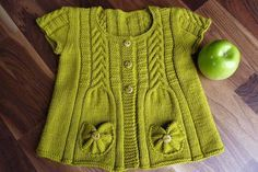 Yeşil örgü çocuk yelek | Örgü Modelleri - Örgü Dantel Modelleri