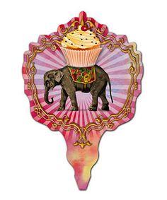 Orange Circle Studios Elephant Mini Treat Topper - Set of 36