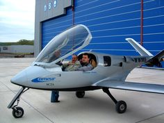 """""""An asymetrical jet aircraft."""" In april 2004, I joined Ameur Aviation, in Clermont-Ferrand, for an internship. This small company produces a light propeller sport aircraft, called &#822…"""