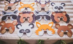 Woodland Animal Masks from a Starry Nights & Campfires Themed Woodland Camping Birthday Party via Kara's Party Ideas KarasPartyIdeas.com (52)