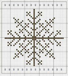 A Snowflake. Cross stitch chart. #cross_stitch.  Try as a knitting motif.