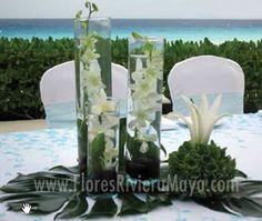 Centros de mesa para bodas | Bodas en el Caribe Mexicano