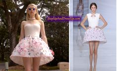 Emma Roberts as Chanel Oberlin. Emma Robertsat Season 1 Premiere Screening in Los Angeles. September Abigail Breslin, Emma Roberts and Lea Michele wear pink while filming . Chanel Scream Queens, Scream Queens Fashion, Dress With Bow, Dress Up, White Dress, Queen Fashion, I Love Fashion, Womens Fashion, Emma Ross