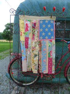 Shabby Chic American Flag Junk Gypsy decor by TheSleepyArmadillo