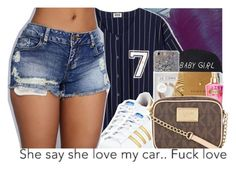 """""""⚾️."""" by xluxaryx ❤ liked on Polyvore featuring adidas"""