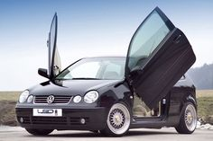 A subcompact with wing doors? LSD fittings now also are available for the VW Polo Give it LSD doors and you will turn this slowcoach into an Volkswagen Polo, Cars, Amazing Places, Motorcycles, Type, Fashion, Sportbikes, Autos, Moda