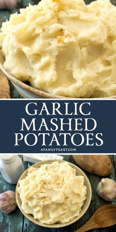 Creamy russet potatoes combined with roasted garlic, butter and cream...these are the best Garlic Mashed Potatoes of your life!
