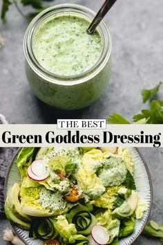 This healthy Green Goddess Dressing takes less than five minutes to make and is loaded with fresh herbs, garlic and tangy lime juice. It's great on salads, but you can also use it as a dip or as a… More