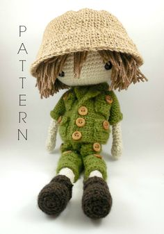 Etsy の Esteban Amigurumi Doll Crochet Pattern by CarmenRent