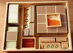 Matematická výchova | Velká desítková soustava - banka | Montessori pomůcky, Montessori hračky