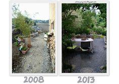 Before After Garden Pictures - 5 Years later - Ein Schweizer Garten