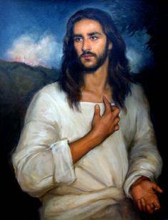 Matthew James Collins Jesus in the Garden of Olives, oil on linen,