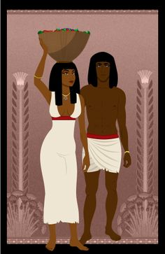 Ancient Egyptian farmers by Sanio - Please check out the original artist on deviantart. His Ancient Egyptian work is some of the best I've seen, and he's got some great stuff otherwise. Egyptian Era, Egyptian Beauty, Egyptian Mythology, Egyptian Queen, Egyptian Goddess, African History, African Art, Egyptian Artwork, Character Inspiration